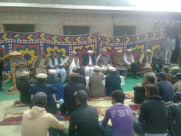 The handover ceremony of the Rashit High School was attended by a large number of people. Photo: Shehzad Khan