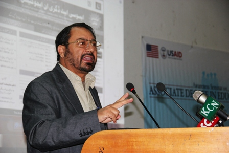 Muhammad Abideen, the former Director of Education Dept, who is among the arrested people accused of fraud