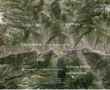 Darel and Tangir are two adjacent valleys located in the Diamer District. The Dodishal Police Station is located close to the KPK border