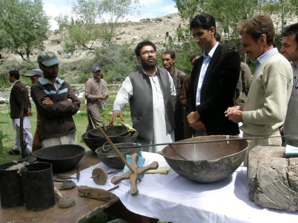Cultural items have been put on display at the festival, arranged by the local community on self-help basis