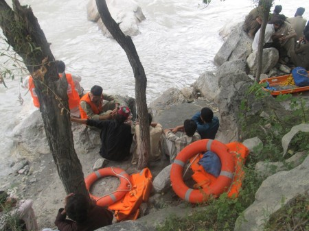 Rescue officials are not trained to conduct water rescue operations