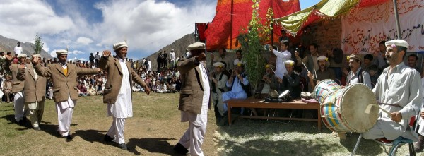 Elders of the valley present a cultural dance