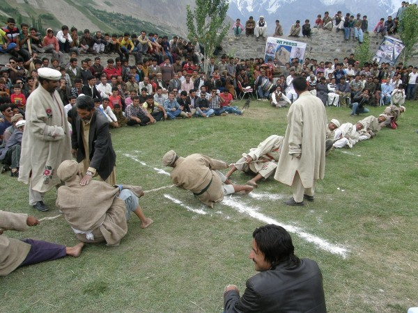 A number of traditional games, like Tug of War, are also being played during the festival