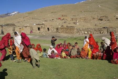 Local women had come to attend the festival