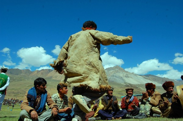 A local man dancing during the festival