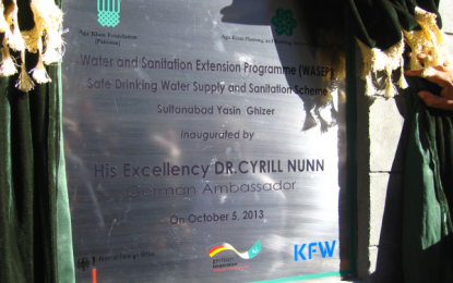German govt and Aga Khan Development Network inaugurate Safe Drinking Water and Sanitation schemes