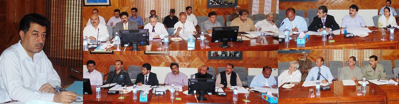 Gilgit: Meeting of the steering committee was attended by govt officials and representatives of various NGOs