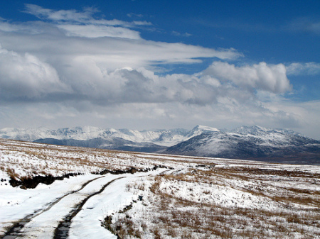 Deosai received several feet of snow as the temperature dropped due to rainfall in the Himalayas