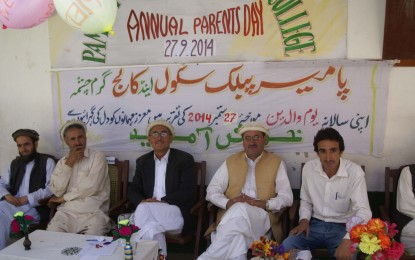 Parents' day celebrated at Pamir school and Degree College, Garamchashma.