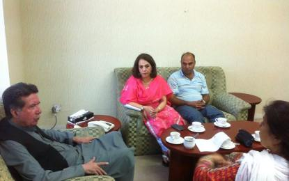 AWP meets Afrasiab Khattak to ensure justice to Baba Jan and other workers