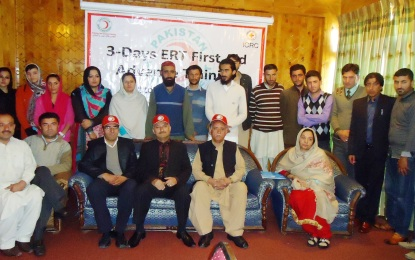 Three day Emergency Response & First Aid Training workshop starts in Gilgit