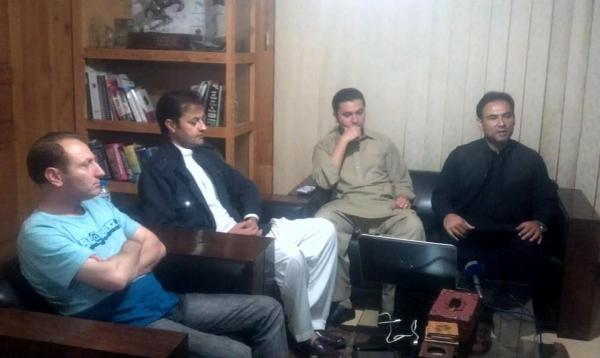 SP Investigation, AC Danyore and DC Gilgit during the press conference