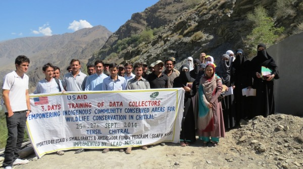 Participants of the training posing during the field visit