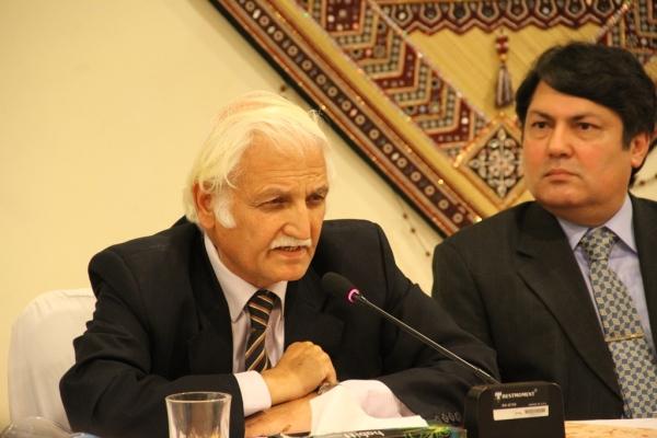 Senator Farhatullah Babar addressing the audience