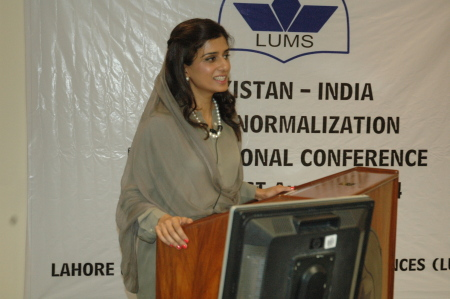 Ms. Hina Rabbani Khar, Former Foreign Minister for Pakistan, addressing the conference.