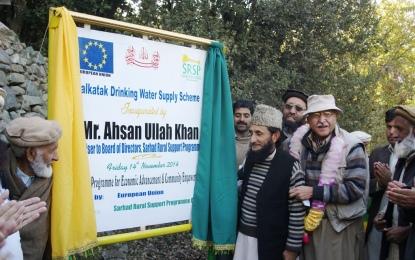 Drinking water supply scheme inaugurated at Kalkakat, Chitral