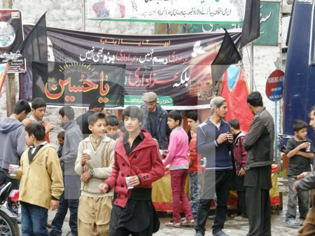 Stalls have been organized by different organizations in memory of the martyrs of Karballa