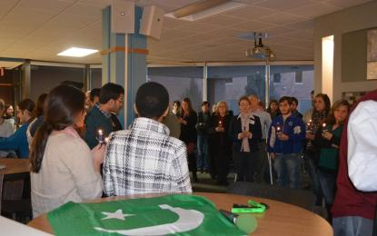 Students and staff at Wisconsin college hold vigil for Peshawar carnage victims