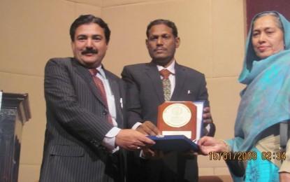 Rehmat Aziz Chitrali gets International Innovation Award 2014 from Sharif Academy Germany