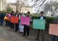 Less representation: People from Hunza protest in front of Gilgit-Baltistan House, Islamabad