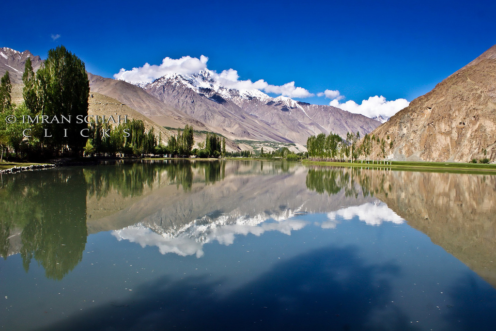 The cool reflections of the mountains