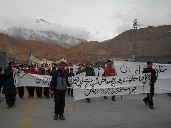 Participants of the rally held in Sost. Photo: Karim Budley