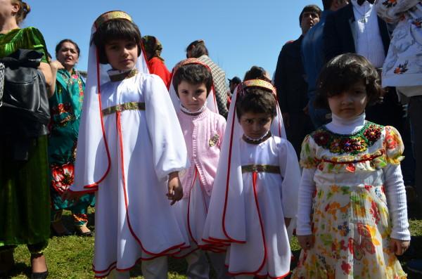 Cute kids in traditional attire