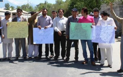 Estranged Gilgit journalists protest during premier's visit