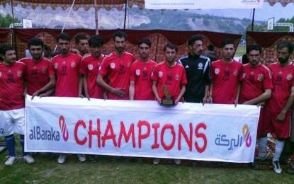 Highlanders Football Club has won the Jashn-e-Baharan Tournament in Gilgit