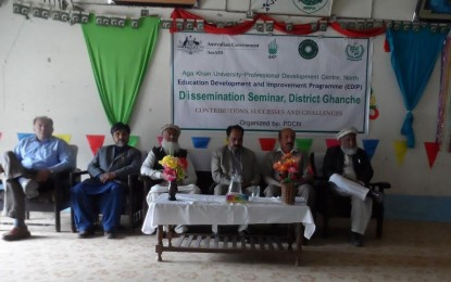 Khaplu: Dissemination seminar of five-year long educational improvement project held