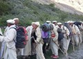 Following the footprints: Senior citizens from Shimshal trekked the historic Qaroon route