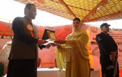 Salam Teacher Day celebrated in Gilgit