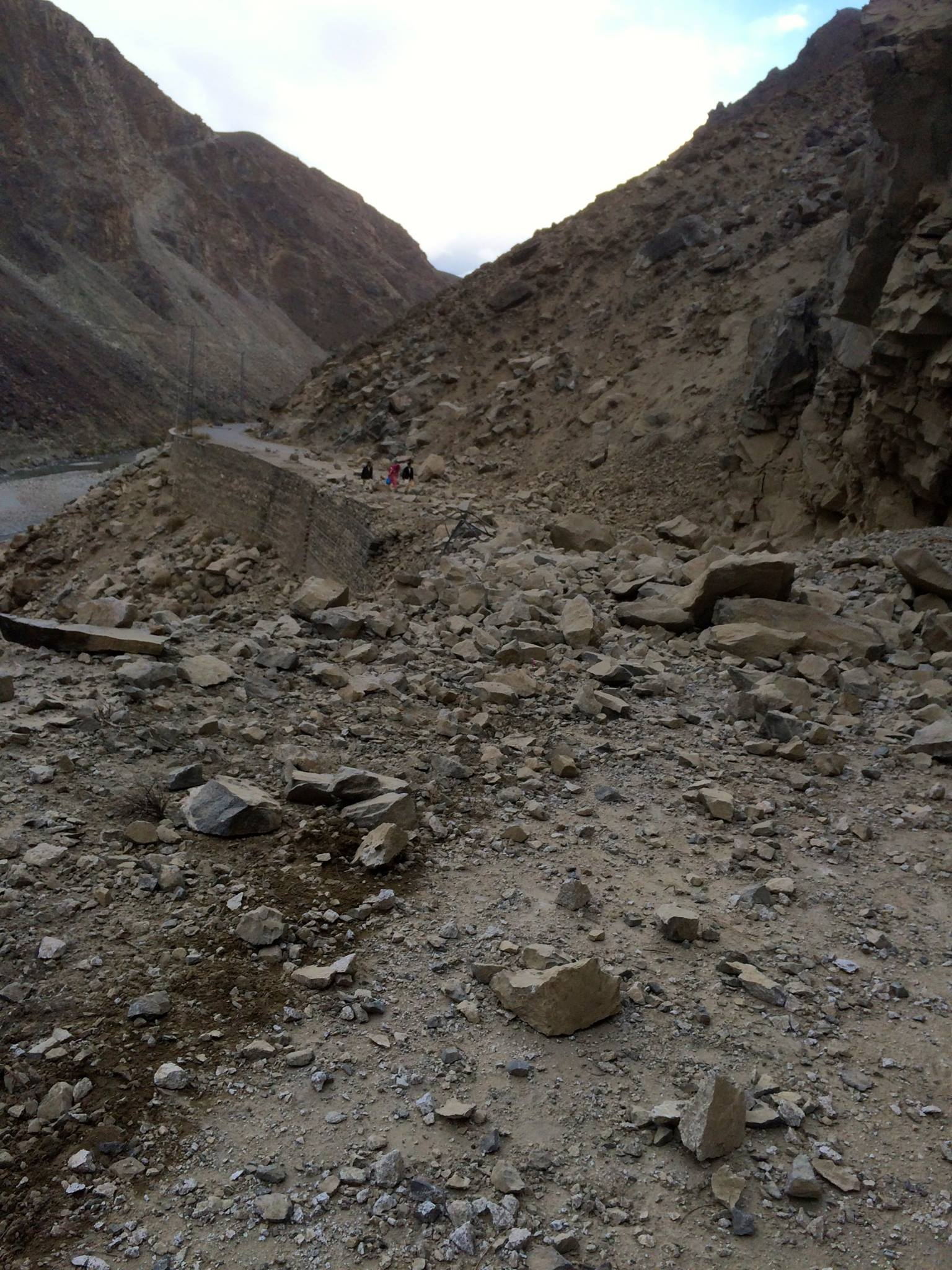 Main and link roads have been blocked by landslide and rockfall across the GB region