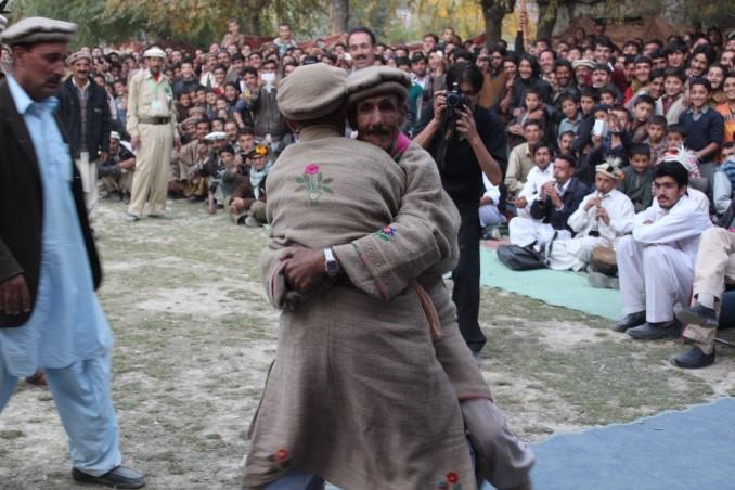 Traditional Wrestling between shepherds