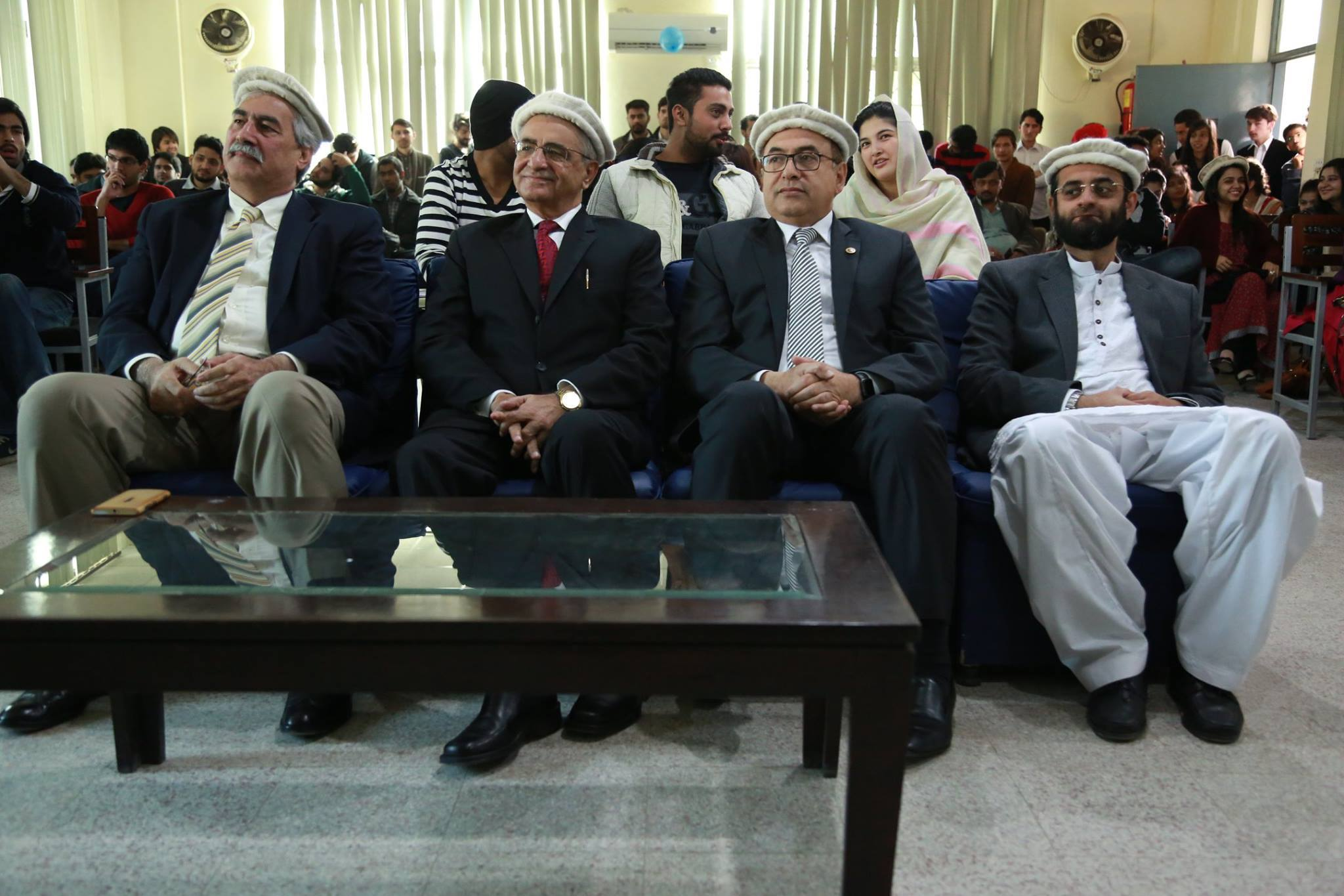 Guests and faculty members during the event