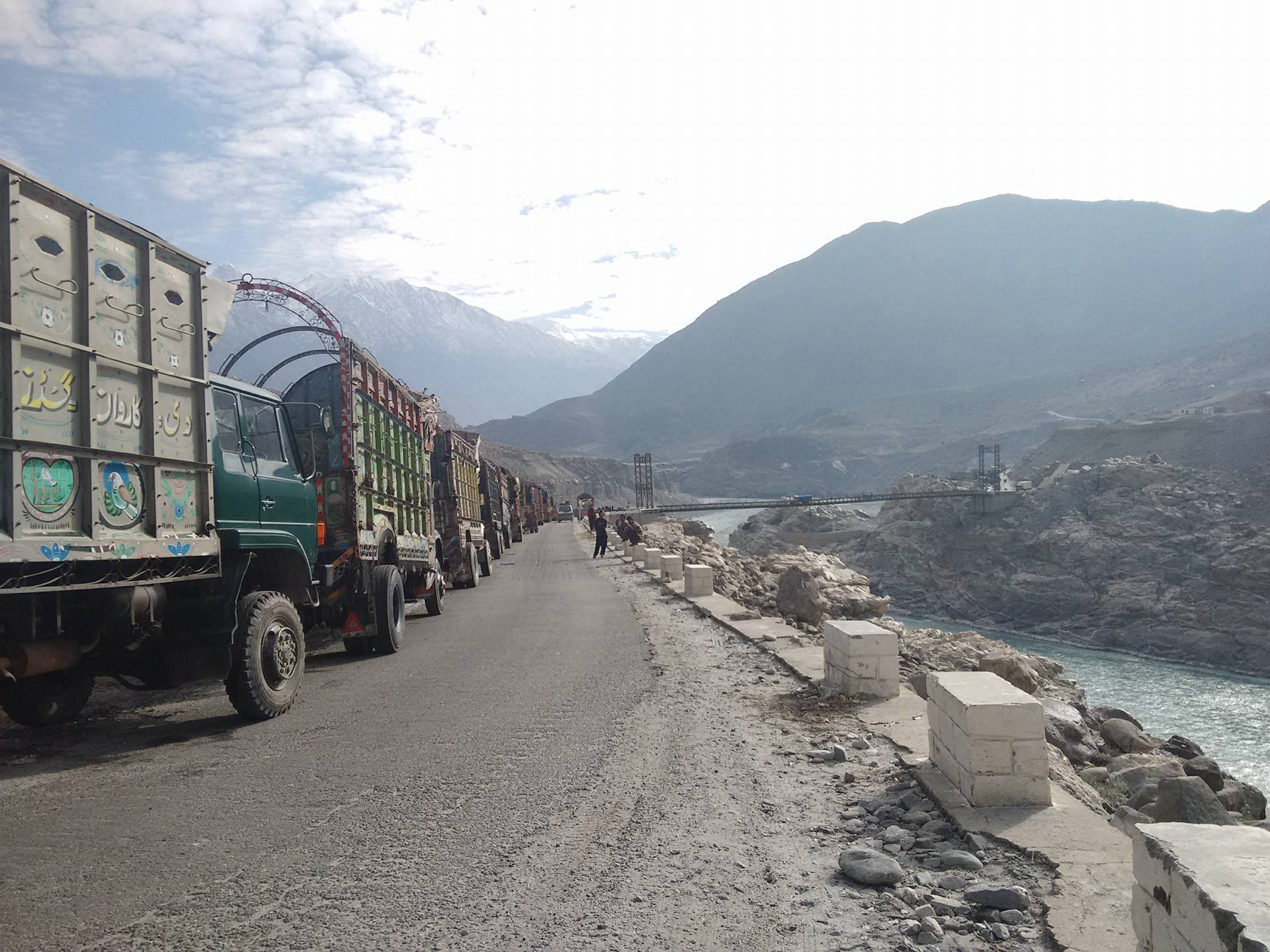 Protest: Truck owners and drivers block transport of goods to Baltistan Division