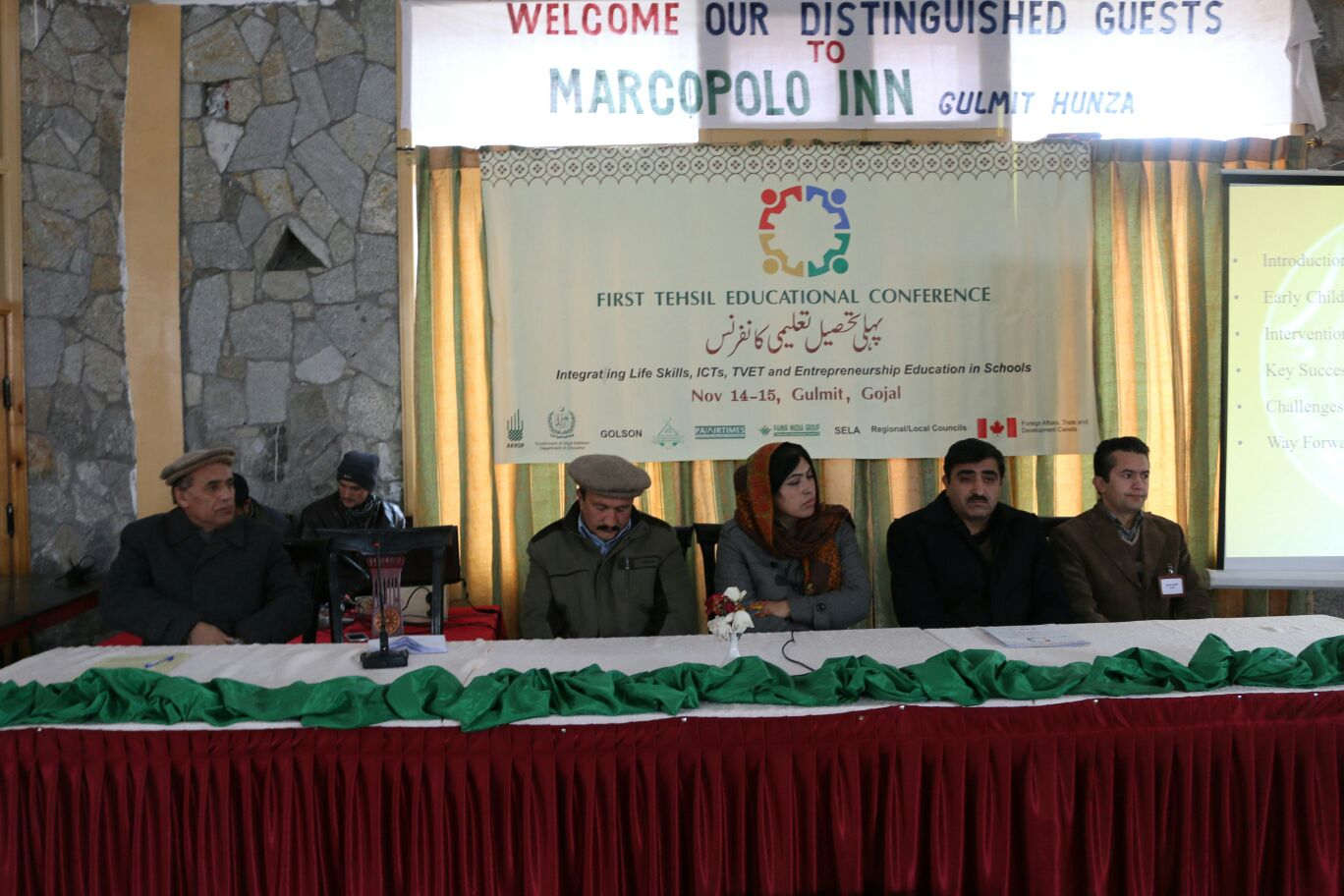 Sharifullah from PDCN chairing a session on the second day of the Educational Conference
