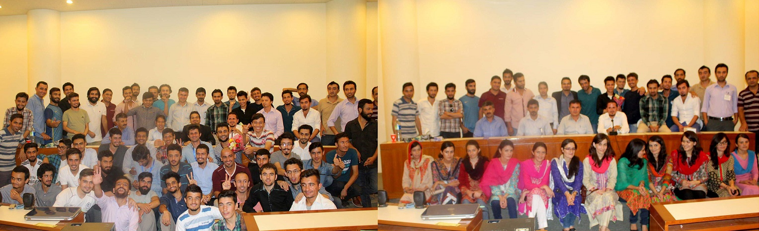 Participants posing after the session
