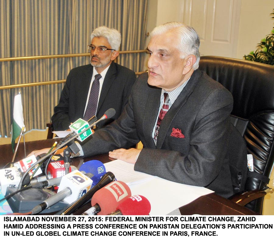 Zahid Hamid vows to highlight Pakistan's climate vulnerability at UN-led climate conference