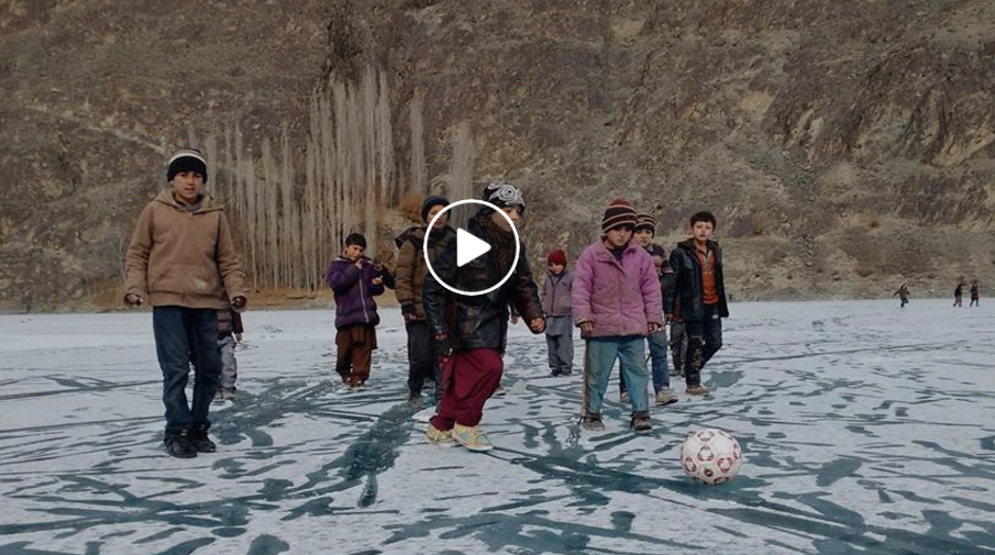 [Video] Winter Recreation on Frozen Khalti Lake in Ghizer district of Gilgit-Baltistan