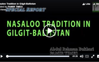 [Video] Nasaloo Tradition in Gilgit-Baltistan