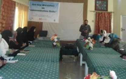 Training session on communication skills held in Kashrote, Gilgit