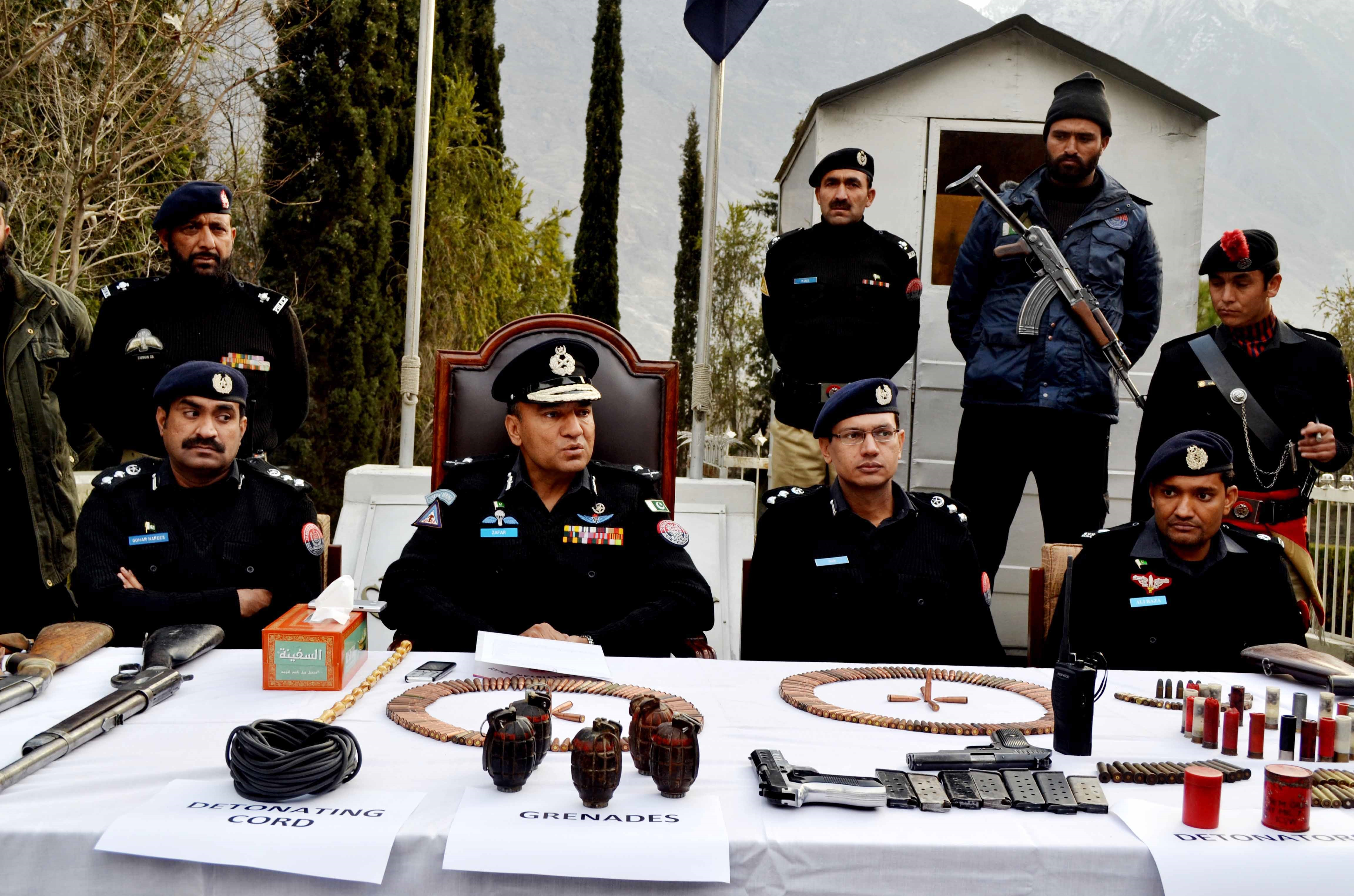Terror bid foiled,  heavy cache of arms and ammunition recovered during raid in Gilgit