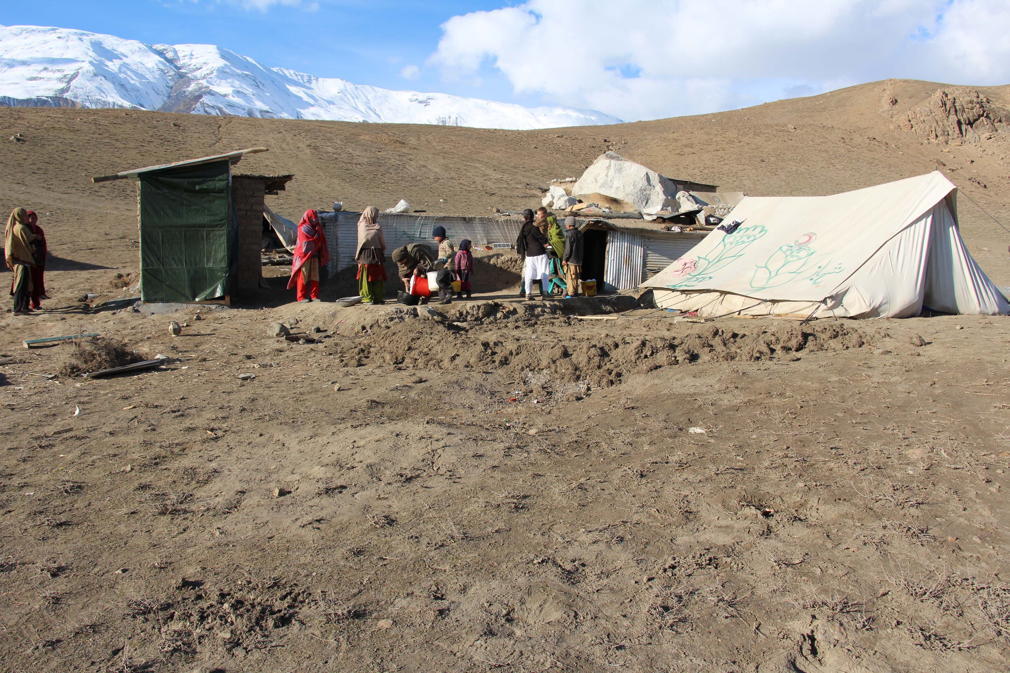 Chitral: Earthquake affected families in Charoon Valley get potable water and shelters for cattle
