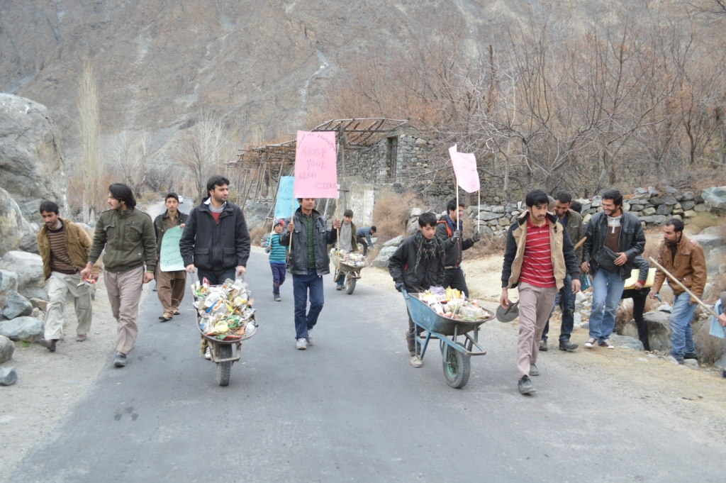 Cleanliness drive held in Goharabad village of Punial, Ghizer