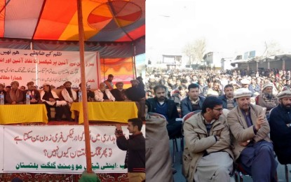 Abolition of taxes demanded during a huge gathering in Gilgit