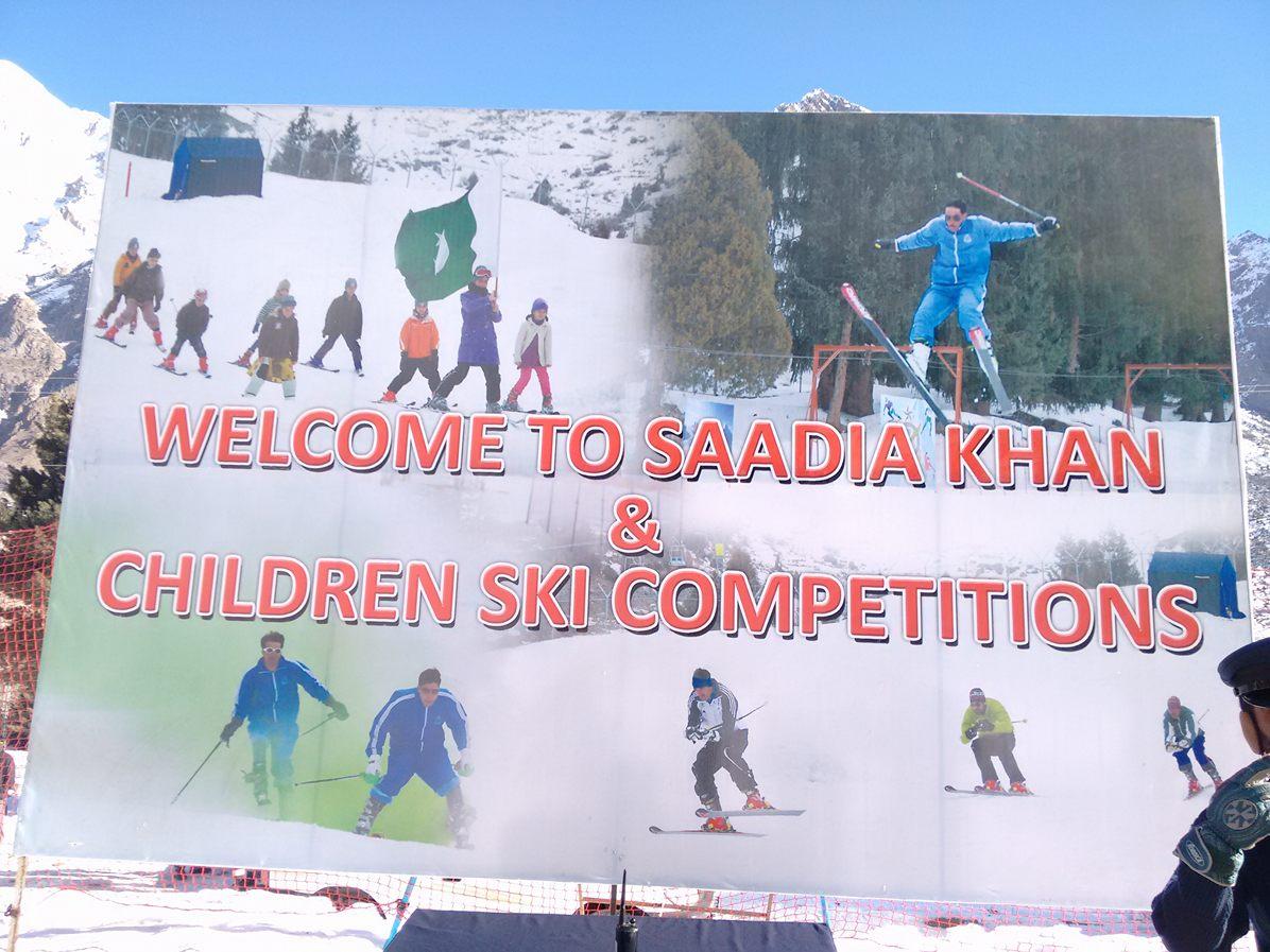 Saadia Khan and Children Ski Championship starts in Naltar, Gilgit