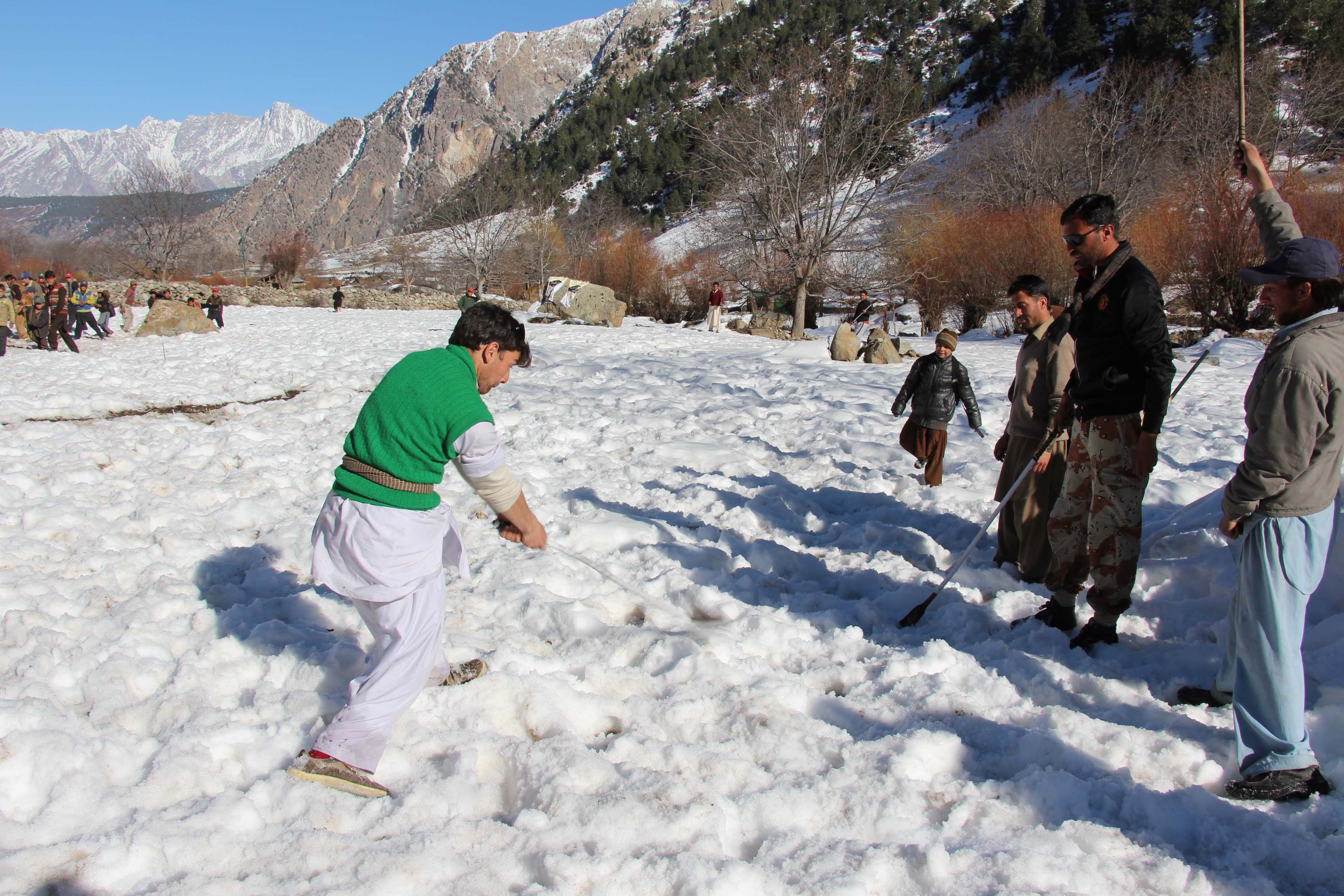"Kalash Valley's Indigenous ""Snow Hockey"" Tournament held – Pictorial"