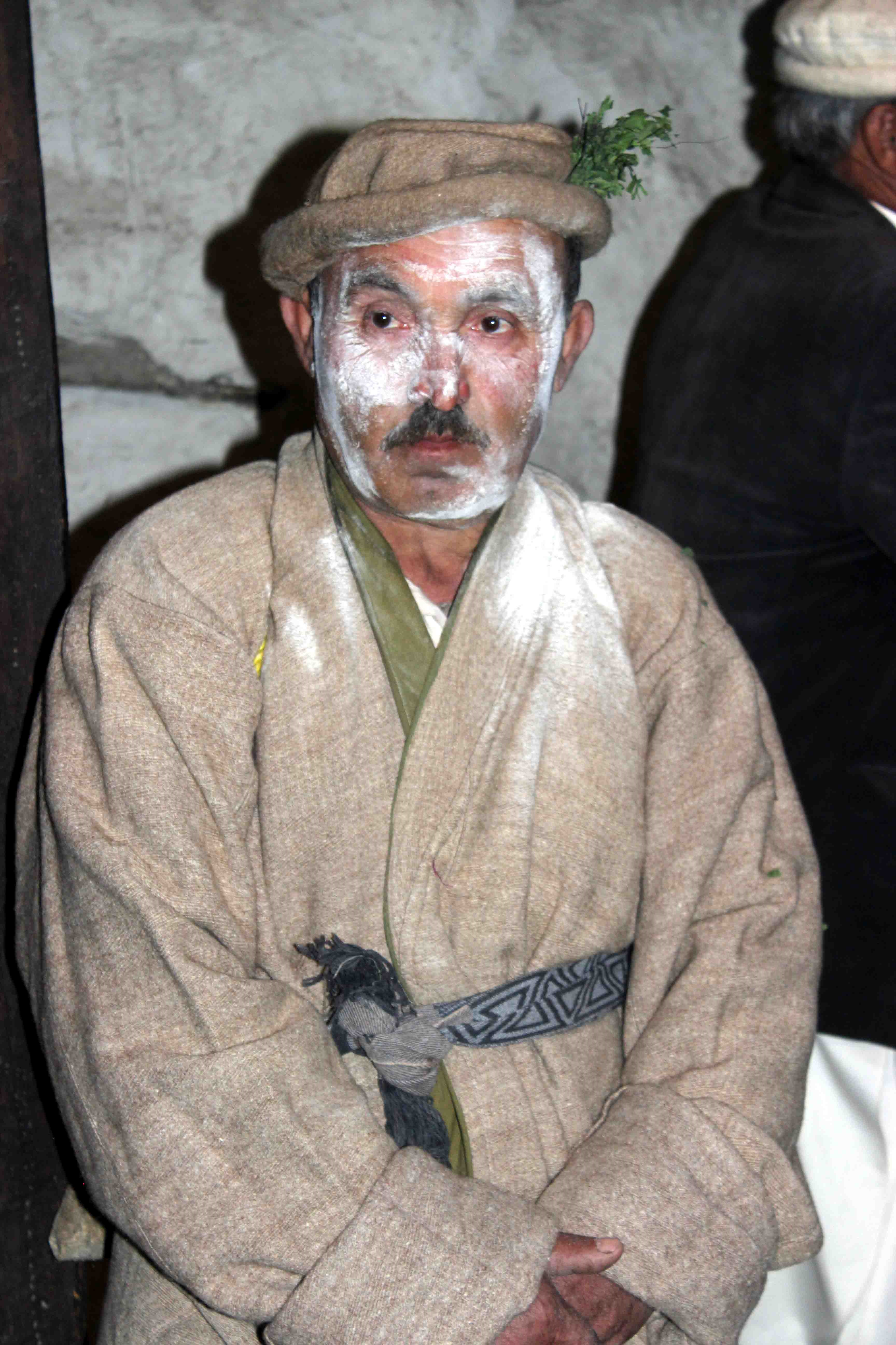 A local man dressed as a character during the festival