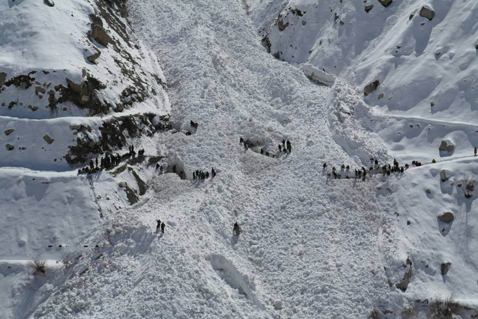 Photographs of the Chitral avalanche that buried 9 people